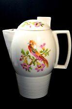 Art Deco Leigh Ware Cross-Stitch Cockatoo Design Coffee Tea Pot made in USA