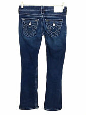 True Religion Jeans Becky Glitz Glam Jewel Rhinestone Boot Cut Womens 26 x 31.5