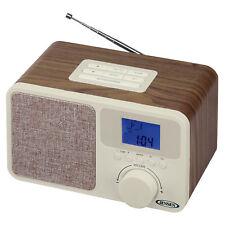 Digital Am/Fm Dual Alarm Clock Radio with Wood Cabinet