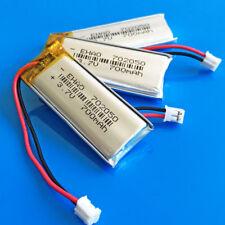 3 pcs 3.7V 700mAh Li Po Battery for MP4 PSP Speaker 702050 JST 2.0mm Connector