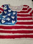 Justice girls sz. 16 USA patriotic flag crop top. Cute, fun