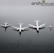 2 x schöne Modell Flugzeug Typ D - 18mm für Flughafen Modellbau 1:2000 - 1:5000