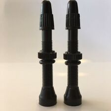 2 Tubeless Presta Valve Stems...Ultra-lite Alloy..with Valve Cores...40mm Black