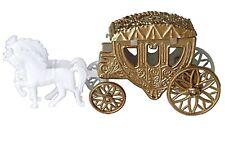 2 Cinderella Coach Wedding Carriage Favor Plastic - Gold