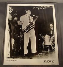 Original 1950's 8 x 10 Publicity Photo Illinois Jacquet In The Righteous Groove