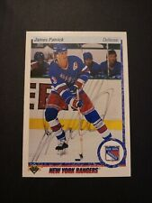 1990-91 Upper Deck James Patrick Rangers Auto Autographed Signed Card