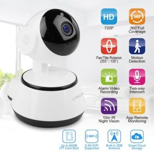 V380 Smart 720P WiFi Camera Wireless Night Vision Security IR Cam Baby Monitor