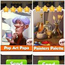 Coin Master Pop Art Papa & Painters Palette *Fast Delivery*
