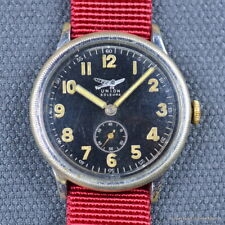 UNION SOLEURE 40MM CHROME NATO 1930's VINTAGE PILOTS WATCH MANUAL WINDING RADIUM