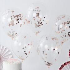 Luftballon Luftballons Konfetti roségold (5 Stück) Hochzeit Geburtstag Deko