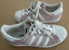Adidas Superstar Athletic Tennis Shoes White Pink Womens Sneakers 7.5  VERY NICE