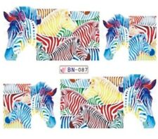 Zebra Nail art (water decals) Zebra Watercolor Nail Decals Nail Wraps