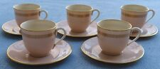 Set of FIVE Lenox Caribbee Demitasse Cup and Saucer Sets