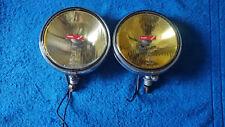 Vintage Lucas chrome yellow  fog light fog lamp