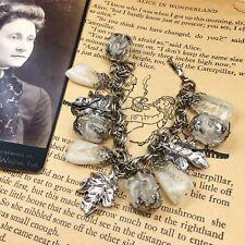 Vintage Lucite & Leaf Charm Bracelet