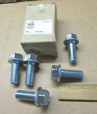 NOS Mack Truck 5 pack chrome bolts # 6AX1521 tow hooks, crossmember etc Bulldog