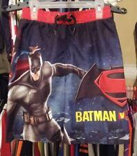 Boys Youth Size Large BATMAN & SUPERMAN SWIM TRUNKS/SHORTS IN NWOT