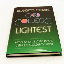 Card College Lightest by Roberto Giobbi Pro Self Working Card Tricks Magic