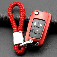 Scarlet Red TPU Soft Car Key Chain Cover For Chevrolet Cruze Malibu Impala Sonic