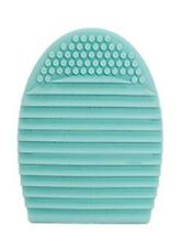 Brush Egg Makeup Cosmetic Glove Cleaner Washer Rubber Textured Scrubber in Mint