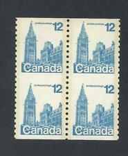 CANADA UNSEVERED COILS BLOCK OF 4 SCOTT 729i VF MINT NH (BS17157)