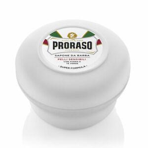 PRORASO Shaving Soap | WHITE for Sensitive Skin | Green Tea and Oat | 150ml Bowl
