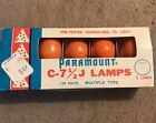 5 Vintage Paramount C7- 1/2 J Lamps Bulbs Orange Halloween Christmas