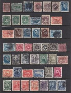 CANADA NEWFOUNDLAND QV COLLECTION 46 MINT AND USED STAMPS