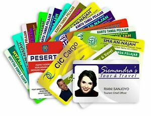 Staff ID Card Printed Full Colour on ISO Quality White PVC Cards of size 86x54mm
