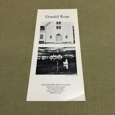 Donald Ross Photography West Gallery Vintage Brochure FREE US SHIPPING