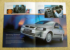 Vauxhall Astra Active Mk4 2003 Special edition Brochure