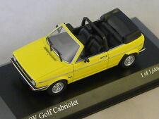 MINICHAMPS 400055130 - VOLKSWAGEN VW GOLF CABRIOLET - 1980 JAUNE 1/43