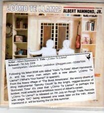 (CI313) Como Te Llama, Albert Hammond Jr - 2008 DJ CD