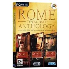 Rome Total War Anthology Barbarian Invasion Total War Alexander PC DVD Rom Sega