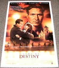 A TIME OF DESTINY 1988 ORIGINAL 27x41 NM MOVIE POSTER! WILLIAM HURT WW2 DRAMA!