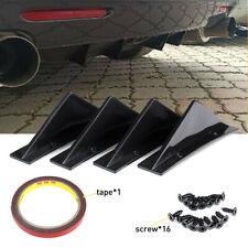 Rear Lower Bumper Diffuser 4fin Spoiler Lip Wing Splitter Universal Fits Cayenne