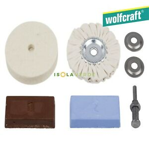 KIT SET LUCIDATURA METALLI PER TRAPANO WOLFCRAFT 2178000 LUCIDARE