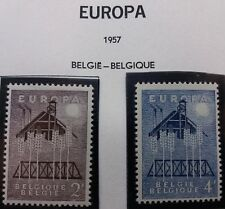 2 X Timbre Belgique België Belgium 1957 EUROPA YT 1025 1026 Neufs