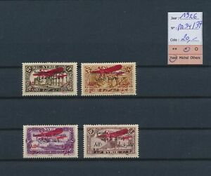LO39500 Syria 1926 airmail overprint fine lot MH cv 20 EUR