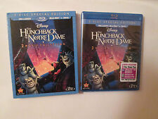 The Hunchback of Notre Dame (Blu-ray/DVD, 2013, 3-Disc Set )OOP Slipcover Disney