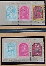 ISRAEL 1987 MARC CHAGALL CENTENARY HADASSAH WINDOWS COLOR REPRODUCTION SET OF 12