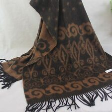 Winter Womens Mans Cashmere Wool Soft Warm Wrap Shawl Scarf 116 Brown Khaki