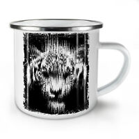 Shadow Ghost Tiger NEW Enamel Tea Mug 10 oz | Wellcoda