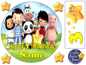"""LITTLE BABY BUM INSPIRED 6"""" / A3 / COSTCO PERSONALISED EDIBLE ICING CAKE TOPPER"""