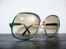 4499e5d1b3 1970 s True Vintage Italian Anne Klein Riviera Sunglasses Oversized Teal  Italy
