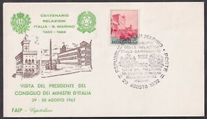 San Marino, 1962, The Presidency of the Council of Ministers, special cover & po