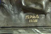 Animal bronze sculpture - The Panda - created by Marius Hot Cast Figurine Art