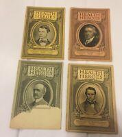 4 HEALTH HEROES Booklets - METROPOLITAN LIFE - 1925-26 Walter Reed, Louis Pasteu