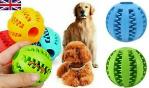 Pet Dog Puppy Rubber Ball Teething Durable Treat Clean Chew Toy 7cm