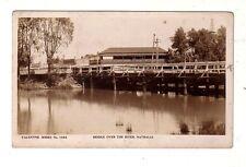 NATHALIA Vic BINGER & BENT Auto Service BRIDGE HOTEL Bennet Baker Vint RPPC Aust